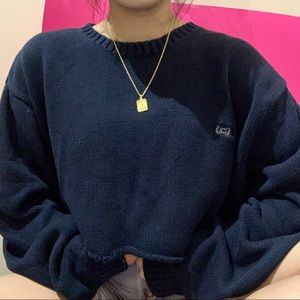 cropped chaps by ralph lauren navy blue sweater ✧